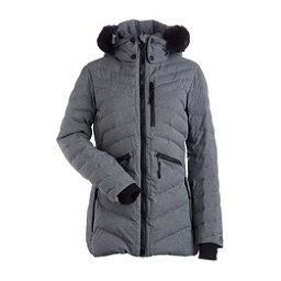 NILS Charlotte Faux Fur Womens Insulated Ski Jacket, Dark Texture, 256
