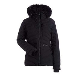 NILS Alexandra w/ Faux Fur Womens Insulated Ski Jacket, Black, 256