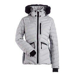 NILS Alex w/ Faux Fur Womens Insulated Ski Jacket, Light Texture-Dark Texture, 256
