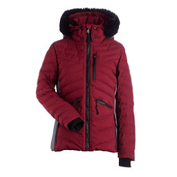 NILS Alex w/ Faux Fur Womens Insulated Ski Jacket, Cranberry-Dark Texture, 256