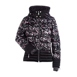 NILS Liv Womens Insulated Ski Jacket, Winter Garden Print-Black, 256
