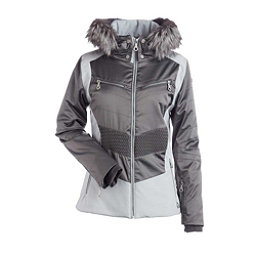 NILS Penny Fur Womens Insulated Ski Jacket, Pewter-Silver, 256