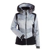 NILS Penny Womens Insulated Ski Jacket, Silver Mist Print-Black, medium