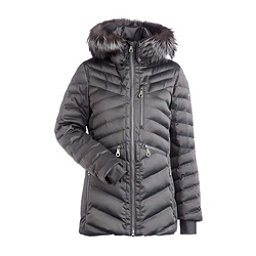 NILS Raina Fur Womens Insulated Ski Jacket, Pewter, 256