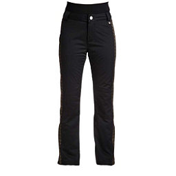 NILS Dominique Special Edition Womens Ski Pants, Black-Metallic Gold Velocity P, 256