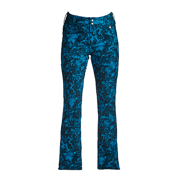 NILS Betty Print Womens Ski Pants, Dark Teal Winter Winds Print, 600
