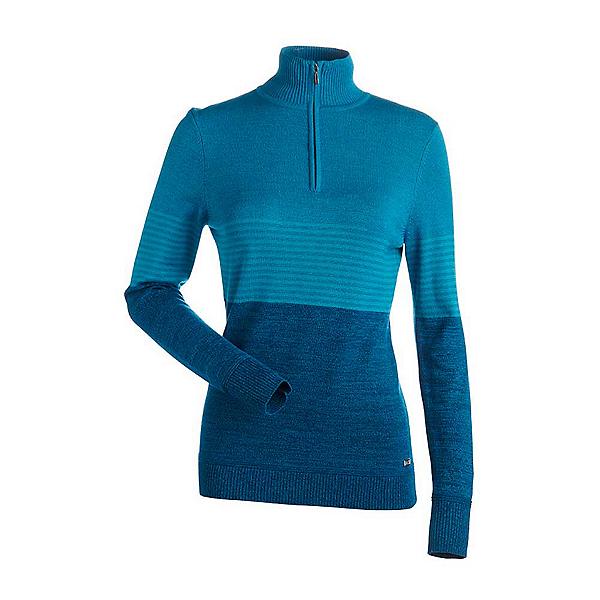 NILS Riley Womens Sweater, Dark Teal-Light Teal-Light Tea, 600
