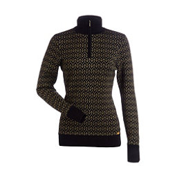 NILS Maddison Womens Sweater, Black-Metallic Gold, 256