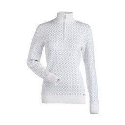 NILS Maddison Womens Sweater, White-Metallic Silver, 256