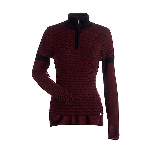 NILS Emma Womens Sweater, Cabernet-Black, 600