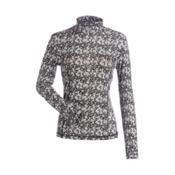 NILS Danielle Print Womens Long Underwear Top, Black-White Turbulence Print, medium