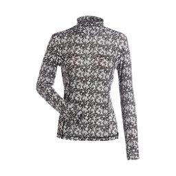 NILS Danielle Print Womens Long Underwear Top, Black-White Turbulence Print, 256