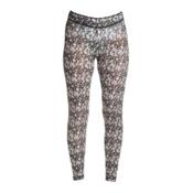 NILS Blaine Print Legging Womens Long Underwear Pants, Black-White Turbulence Print, medium