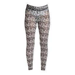 NILS Blaine Print Legging Womens Long Underwear Pants, Black-White Turbulence Print, 256