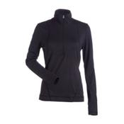 NILS Brooklyn Womens Long Underwear Top, Black, medium