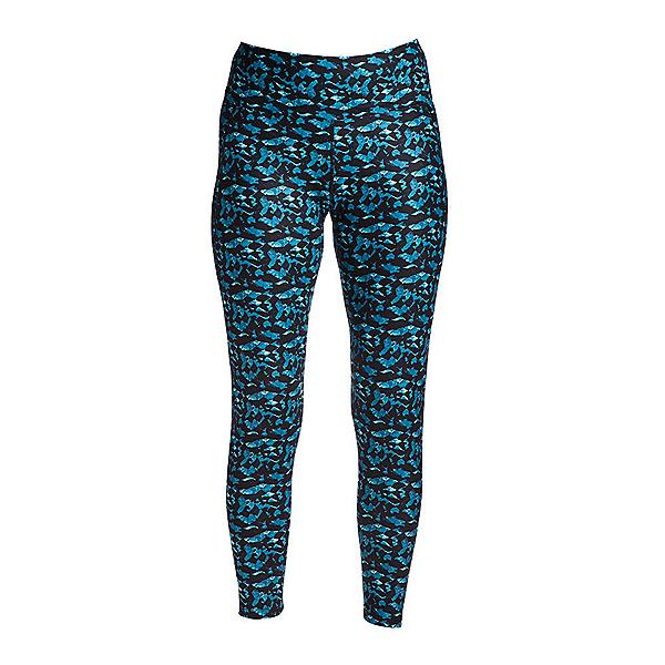 NILS Jenni Roc and Candy Print Leggings Womens Long Underwear Pants, Teal Roc Candy Print, 600