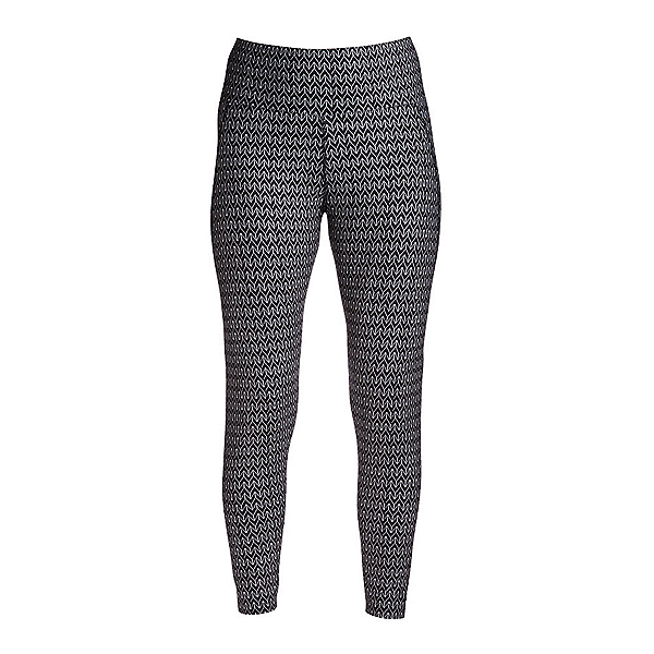 NILS Jenni Special Edition Leggings Womens Long Underwear Pants, Black-White Velocity Print, 600