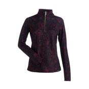 NILS Robin Print Womens Long Underwear Top, Cabernet Winter Winds Print, medium