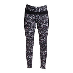 NILS Lucy Print Leggings Womens Long Underwear Pants, Winter Garden Print-Black, 256