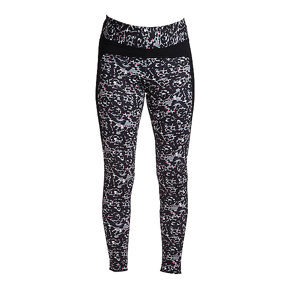 NILS Lucy Print Leggings Womens Long Underwear Pants, Winter Garden Print-Black, 600