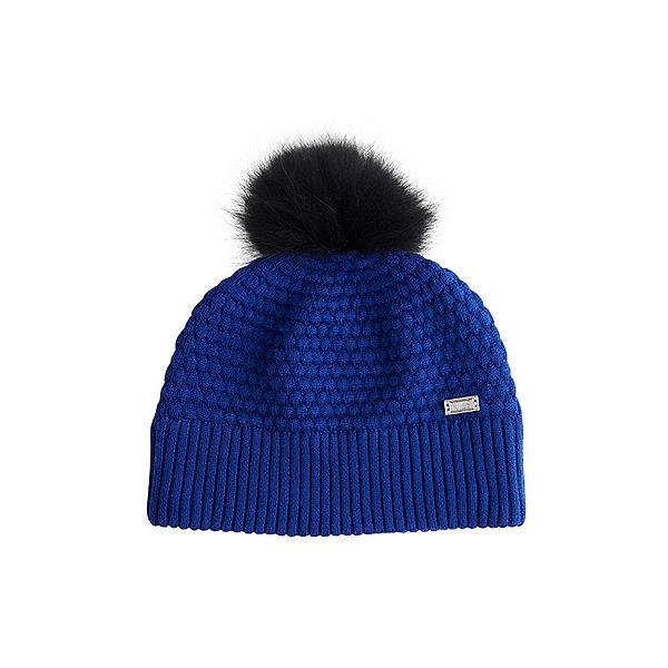 NILS Eve Beanie Womens Hat, Indigo-Black Pom, 600