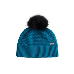 NILS Eve Beanie Womens Hat, Dark Teal-Black Pom, 256