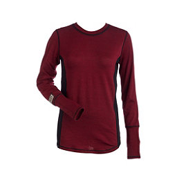 NILS Sally Womens Long Underwear Top, Cranberry-Black-Black, 256