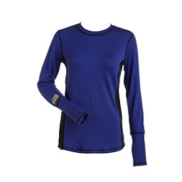 NILS Sally Womens Long Underwear Top, Indigo-Black-Black, 256