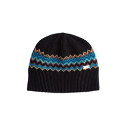 NILS Asi Beanie Womens Hat, Black-Dark Teal-Cornsilk-Pewte, 256