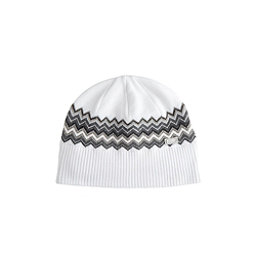 NILS Asi Beanie Womens Hat, White-Pewter-Black-Silver-Almo, 256