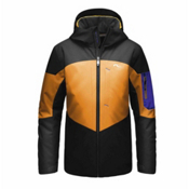 KJUS FRX Boys Ski Jacket, Black-Orange Pepper-Alaska, medium
