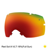 Smith I/OX Turbo Fan Goggle Replacement Lens 2017, Red Sol X, medium