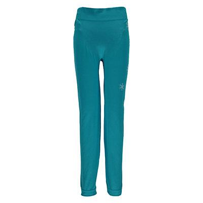 Spyder Crest Boxed Girls Long Underwear Bottom, Bluebird-White, viewer