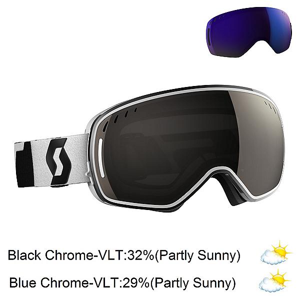 Scott LCG Goggles 2017, Black-White-Solar Black Chrome + Bonus Lens, 600