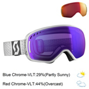 Scott LCG Goggles 2017, White-Solar Blue Chrome + Bonus Lens, medium