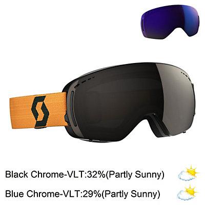 Scott LCG Compact Goggles, Black-Mustard Yellow-Solar Bla + Bonus Lens, viewer