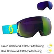 Scott LCG Compact Goggles, Bermuda Blue-Limeade Yellow-So + Bonus Lens, medium