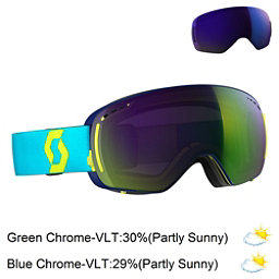 Scott LCG Compact Goggles, Bermuda Blue-Limeade Yellow-So + Bonus Lens, 256