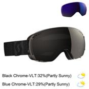 Scott LCG Compact Goggles, Black-Solar Black Chrome + Bonus Lens, medium