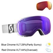 Scott LCG Compact Goggles 2017, White-Solar Blue Chrome + Bonus Lens, medium
