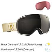 Scott Linx Goggles 2017, White-Beige-Solar Black Chrome + Bonus Lens, medium
