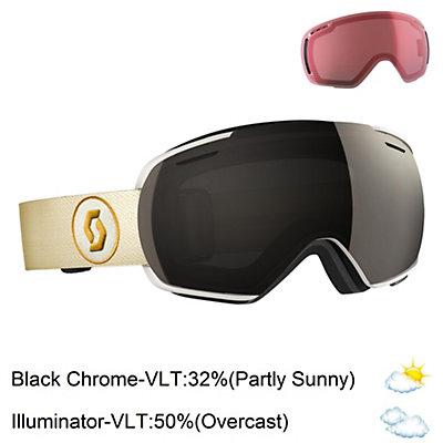 Scott Linx Goggles 2017, White-Beige-Solar Black Chrome + Bonus Lens, viewer