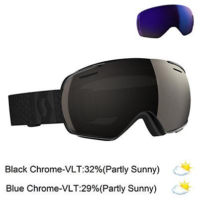 Scott Linx Goggles, White-Beige-Solar Black Chrome + Bonus Lens, viewer