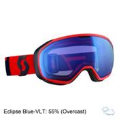 Scott Fix Goggles, Fluorescent Red-Eclipse Blue-I, medium