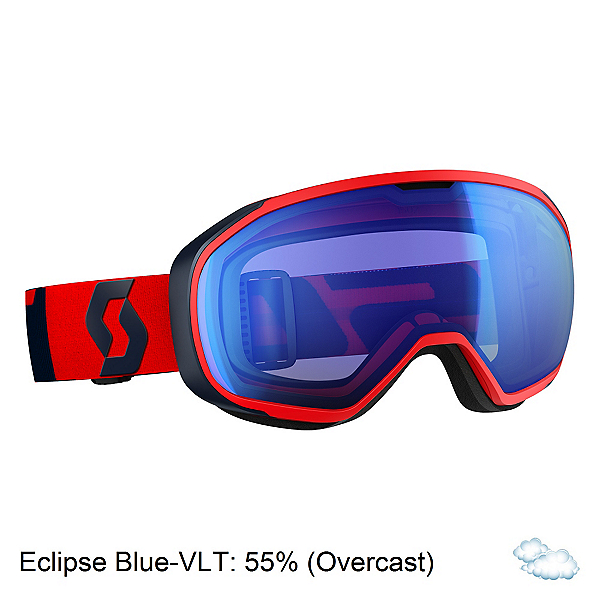 Scott Fix Goggles 2017, Fluorescent Red-Eclipse Blue-I, 600