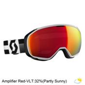 Scott Fix Goggles, White-Black-Amplifier Red Chro, medium