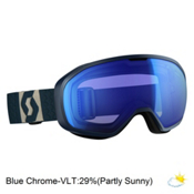 Scott Fix Goggles 2017, Eclipse Blue-Grey-Blue Chrome, medium