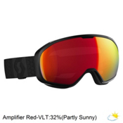 Scott Fix Goggles, Black-Amplifier Red Chrome, medium