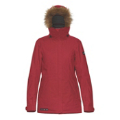Dakine Lowell with Faux Fur Trim Womens Insulated Ski Jacket, Scarlet, medium