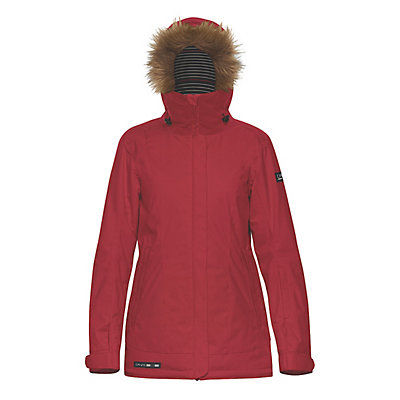 Dakine Lowell with Faux Fur Trim Womens Insulated Ski Jacket, Scarlet, viewer